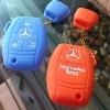 New ปลอกซิลิโคน หุ้มกุญแจรีโมทรถยนต์ รุ่นตัวเต็ม Mercedes Benz