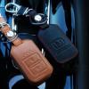 ซองหนังแท้ กุญแจใส่รีโมทรถยนต์ Honda HR-V,Jazz,CR-V,BR-V Smart Key 2 ปุ่ม