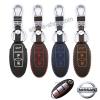 ซองหนังแท้ ใส่กุญแจรีโมท รุ่นด้ายสี Nissan March,X-Trail,Navara,Juke,Pulsar Smart Key 3 ปุ่ม