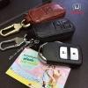 กระเป๋าซองหนังแท้ ใส่กุญแจรีโมทรถ มินิซิบรอบ Honda HR-V,Jazz,CR-V 2015 Smart Key 2 ปุ่ม