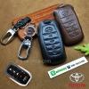 ซองหนังแท้ ใส่กุญแจรีโมทรถยนต์ หนัง Cowhide All New Toyota Fortuner/Camry Hybrid 2015-17 Smart Key 4 ปุ่ม