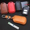 ซองหนังแท้ กุญแจรีโมทรถยนต์ HONDA HR-V,CR-V,BR-V,JAZZ Smart Key 2 ปุ่ม