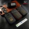 ซองหนังแท้ ใส่กุญแจรีโมท Honda Accord All New City Smart Key 3 ปุ่ม รุ่น ด้ายสี