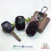 ซองหนังแท้ ใส่กุญแจรีโมทรถยนต์ Honda,Jazz,Fit,City,Civic,Accord,CR-V,Freed,Brio รุ่นป้ายเงิน 2 ปุ่ม