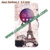 เคสzenfone 2 5.5 ze550ml/ze551ml ฝาพับ flip cover Eiffel