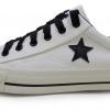 [พร้อมส่ง]รองเท้าผ้าใบแฟชั่น สีครีม ดาวดำ รุ่น Star
