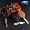 ซองหนังแท้ ใส่กุญแจรีโมทรถยนต์ รุ่นดอกกุญแจ Subaru (Sti)