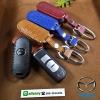 ซองหนังแท้ ใส่กุญแจรีโมทรถยนต์ หนัง Hi-end Mazda 2,3/CX-5 2018 Smart Key 3 ปุ่ม