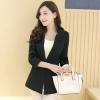 เสื้อสูททำงานผู้หญิงสีดำ คอวี แขนยาว ติดกระดุม สวย ดูดี สุภาพเรียบร้อย