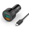 Aukey USB Turbo Car Charger (CC-T1) ชาร์จเร็ว 2 ports Quick Charger 2.0