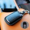 ซองหนังแท้ กุญแจใส่รีโมทรถยนต์ ลาตินั่มคอร์ HONDA HR-V,CR-V,BR-V,JAZZ Smart Key 2 ปุ่ม สีดำ