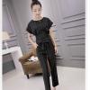 ชุดแฟชั่นเกาหลีสวยๆ สีดำ ชุดเสื้อ-กางเกงขายาว