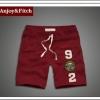 กางเกงขาสั้นผ้ายืดชาย กางเกงขาสั้น Abercrombie Fitch Men (AF) สีแดง