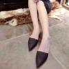 รองเท้า ส้นแบนหัวแหลม แบบใหม่ สีดำ ไซส์ 36
