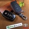 New กระเป๋ามินิซองหนัง ใส่กุญแจรีโมทรถยนต์ รุ่นซิบรอบ Toyota Hilux Revo Smart Key 3 ปุ่ม