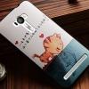 เคส asus zenfone selfie ZD551KL TPU พิมพ์ลาย 3D CAT KISS FISH