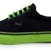 [พร้อมส่ง]รองเท้าผ้าใบแฟชั่น สีดำเขียวสะท้อน รุ่น ER5 Pando
