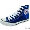 [พร้อมส่ง] รองเท้าผ้าใบแฟชั่น รุ่น 222 สีทะเล ทรงหุ้มข้อ