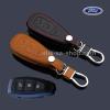 ซองหนังแท้ ใส่กุญแจรีโมทรถยนต์ All new Focus 2.0,Fiesta,Ecosport กุญแจอัจฉริยะ 3 ปุ่ม