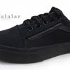 [พร้อมส่ง]รองเท้าผ้าใบแฟชั่น สีดำล้วน รุ่น E-8