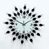 นาฬิกาแขวนผนัง - ประดับด้วยคริสตัล สวยหรู สไตล์ยุโรป ทำจากเหล็กดัดอย่างดี เครื่องเดินเงียบ (Pre)
