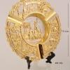ของพรีเมี่ยม จานโลหะวงกลม ขนาดกว้าง 13 ซม. สูง 13 ซม.