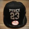 หมวกแฟชั่น หมวกฮิปฮอป บีบอย PYREX23GD สีดำ