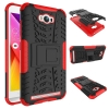 เคส asus zenfone MAX ZC550KL TPU+PC Dual Armor Case With Stand Holder Case สีแดง