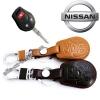 ซองหนังแท้ ใส่กุญแจรีโมทรถยนต์ Nissan Teana,March,Almera,Juke,Sylphy,Cube