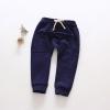 กางเกงขายาวผ้าฝ้าย มีเชือกผูกด้านหน้า ยกแพค 5 ตัว (90/100/110/120/130)