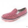 [พร้อมส่ง] รองเท้าผ้าใบแฟชั่น รุ่น 156 สีแดง แบบสวม