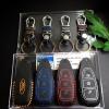 ซองหนังแท้ ใส่กุญแจรีโมท รุ่นด้ายสี พิมพ์โลโก้ All new Focus 2.0,Fiesta,Ecosport กุญแจอัจฉริยะ 3 ปุ่ม