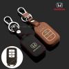 ซองหนังแท้ ใส่กุญแจรีโมทรถยนต์ รุ่นเรืองแสง Honda Accord All New City Smart Key 3 ปุ่ม