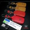 ซองหนังแท้ ใส่กุญแจรีโมทรถยนต์ Honda Accord All New City 2014-18 Smart Key 3 ปุ่ม โลโก้ H - เงิน แบบใหม่