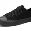 [พร้อมส่ง]รองเท้าผ้าใบแฟชั่น สีดำล้วน รุ่น 191