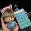 กระเป๋าซองหนังใส่ กุญแจรีโมทรถยนต์ ประดับคริสตัล DIY หลากสี (ไม่รวม-ตุ๊กตา)