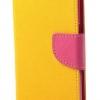 เคส asus zenfone 2 laser 5.5 ze550kl ฝาพับ mercury fancy diary case สีเหลือง-ชมพู