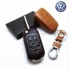 ซองหนังแท้ ใส่กุญแจรีโมทรถยนต์ Volkswagen รุ่นพับข้าง 3 ปุ่ม
