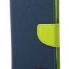 เคส asus zenfone 2 laser 5.5 ze550kl ฝาพับ mercury fancy diary case สีน้ำเงิน-เขียว