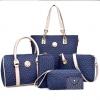 กระเป๋าเซ็ท สีน้ำเงิน มี 5 ใบ กระเป๋าถือ กระเป๋สสะพายข้าง กระเป๋าสตางค์2ใบ กระเป๋าใส่ของ
