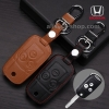 ซองหนังแท้ ใส่กุญแจรีโมทรถยนต์ Honda Civic FB,Accord G8 รุ่น พับข้าง 3 ปุ่ม