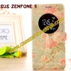 เคสzenfone 5 ฝาพับ FLIP COVER ลาย PARIS AND FLOWER