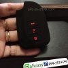 ปลอกซิลิโคน หุ้มกุญแจรีโมทรถยนต์ Toyota New Vios 2014-18 แบบ Push Start สี ดำ/แดง