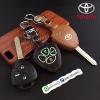 ซองหนังแท้ ใส่กุญแจรีโมทรถยนต์ รุ่นเรืองแสง Toyota Altis,Hilux Vigo,Fortuner,Camry,Innova