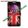 เคสzenfone 2 5.5 ze550ml/ze551ml ฝาพับ flip cover UK
