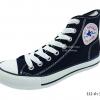 [พร้อมส่ง] รองเท้าผ้าใบแฟชั่น รุ่น 222 สีดำ ทรงหุ้มข้อ