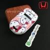 กรอบ-เคส ใส่กุญแจรีโมทรถยนต์ HONDA HR-V,CR-V,BR-V,JAZZ Smart Key 2 ปุ่ม ลาย Kitty