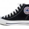 [พร้อมส่ง]รองเท้าผ้าใบแฟชั่น บูทหุ้มข้อ สีดำ รุ่น 222