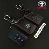 ซองหนังแท้ ใส่กุญแจรีโมทรถยนต์ รุ่งหนังนิ่ม โลโก้เหล็ก Toyota Vellfire,Sienta,Alphard,Esquire