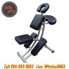 เก้าอี้สักลาย เก้าอี้นั่งสัก เก้าอี้พับได้ เก้าอี้พกพาโครงเหล็กผสมแมงกานีส สำหรับการสัก นวด สปา Foldable Portable Massage Tattoo Spa Chair (สีดำ BLACK)